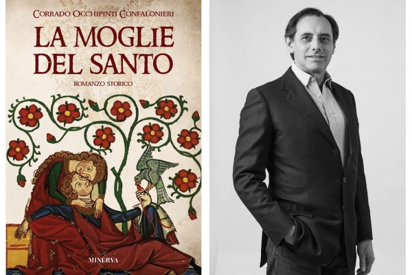 Meeting with Corrado Occhipinti Confalioneri introducing his romance La moglie del santo