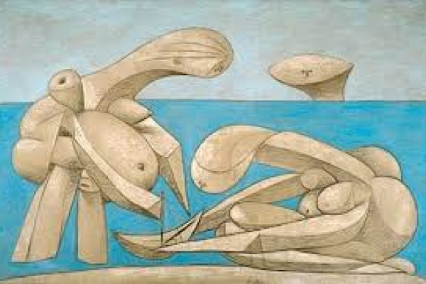 """La Baignade"" an artwork presented within the exhibition ""Picasso. Sulla Spiaggia"""