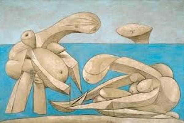 """""""La Baignade"""" an artwork presented within the exhibition """"Picasso. Sulla Spiaggia"""""""