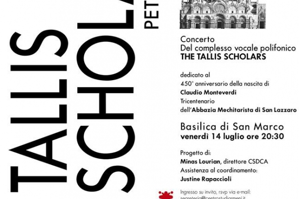 "Manifesto del concerto ""The Tallis Scholars Peter Phillips"""