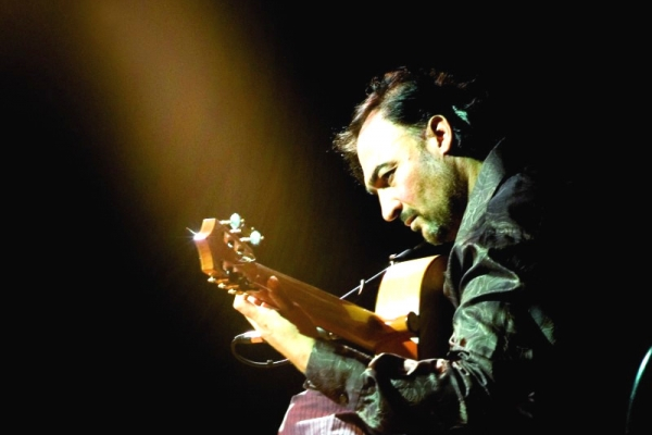 Juan Lorenzo playing the flamenco guitar