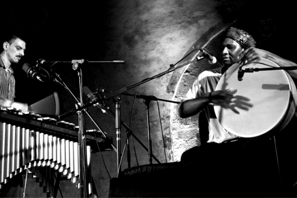 Pasquale Mirra and Hamid Drake in concerto