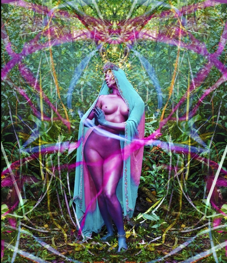 "News of Joy, an artwork presented within the exhibition ""David Lachapelle. Lost+Found"""