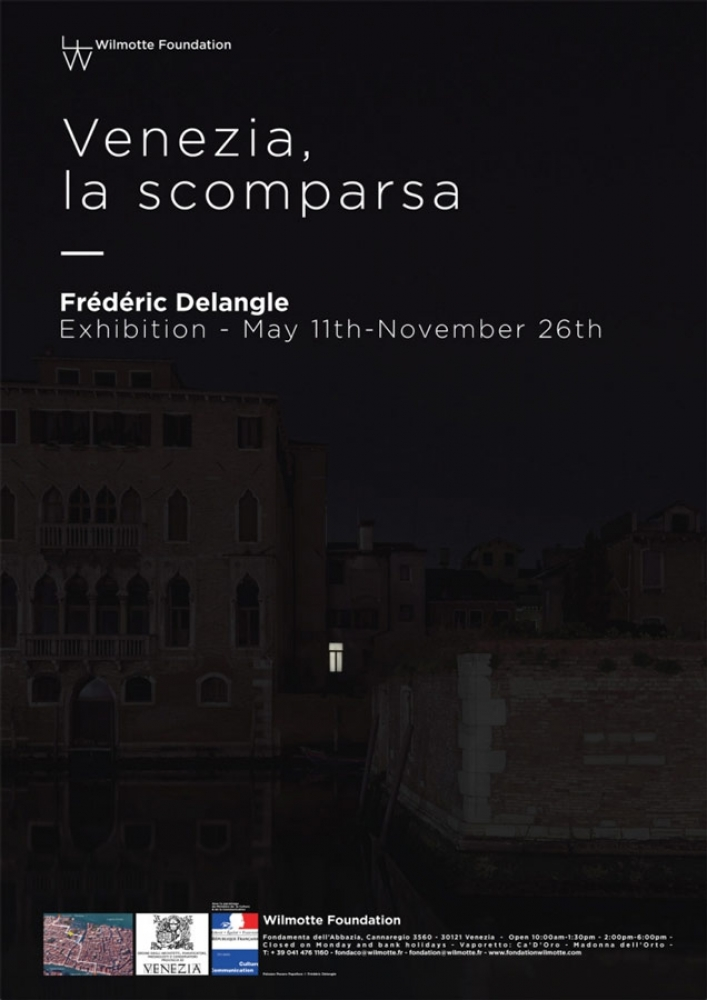"Poster of the exhibition ""Venezia, la scomparsa"""