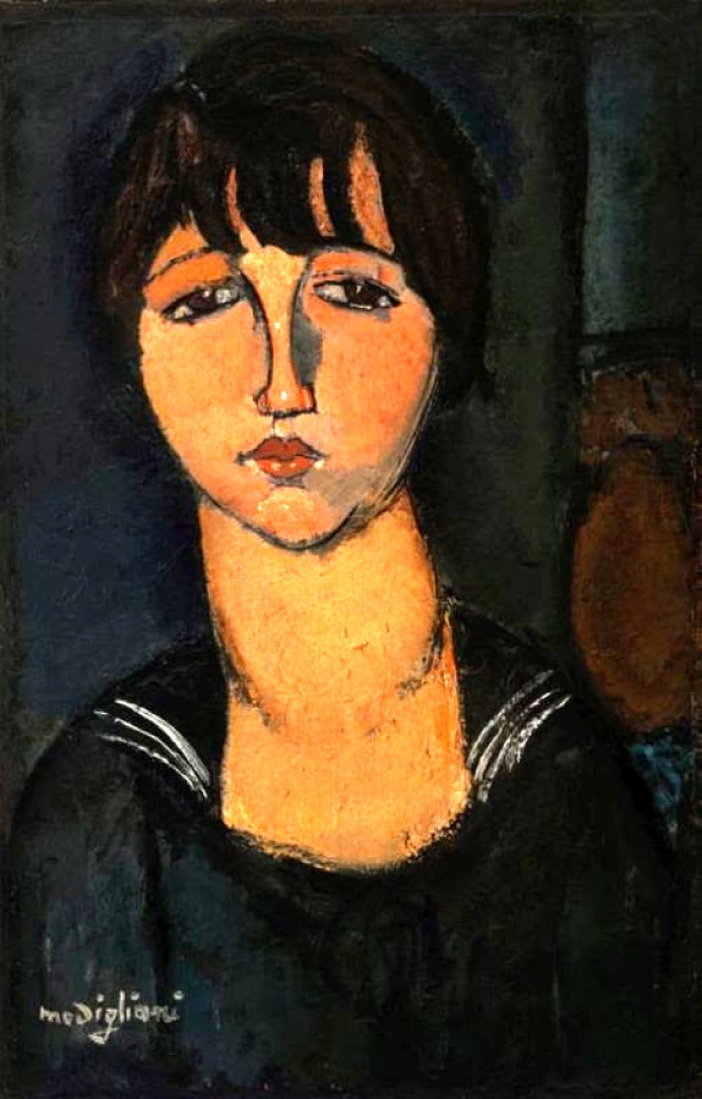 """""""Ragazza con il bavero alla marinara"""", une œuvre présentée dans le cadre de l'exposition """"Modigliani e altre acquisizioni"""""""