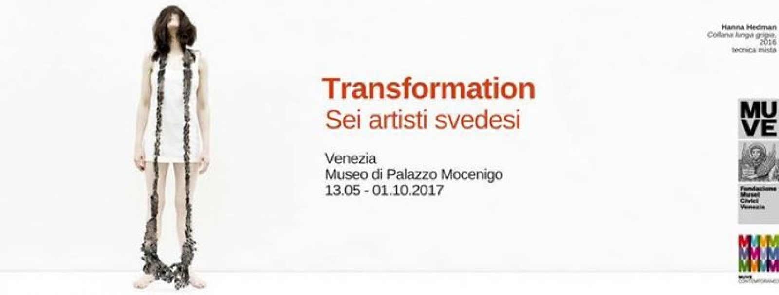 "Poster of the exhibition ""Transformation Sei artisti svedesi"""