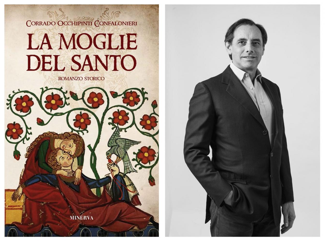 Meeting with Corrado Occhipinti Confalioneri introducing his romance La moglie del santo