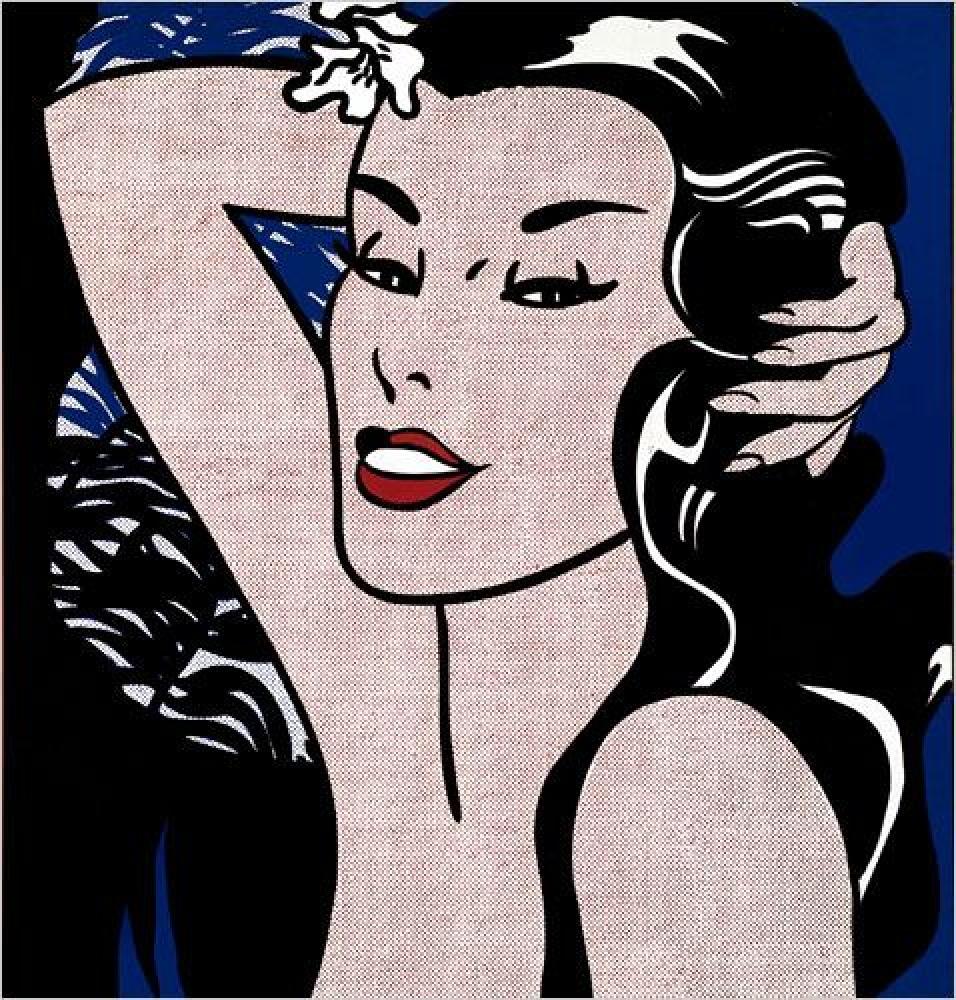 """""""Little Aloha"""" an artwork by Roy Lichtenstein presented within the exhibition """"Attorno alla Pop Art nella Sonnabend Collection"""""""