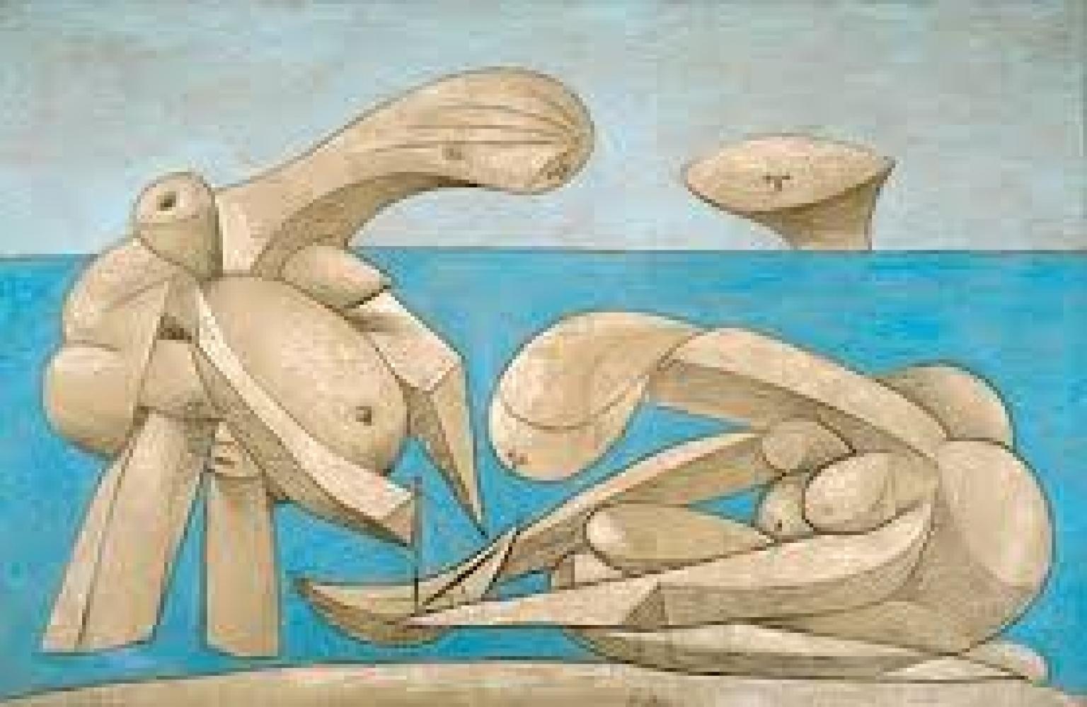 """""""La Baignade"""", une œuvre présentée dans le cadre de l'exposition """"Picasso. Sulla Spiaggia"""""""