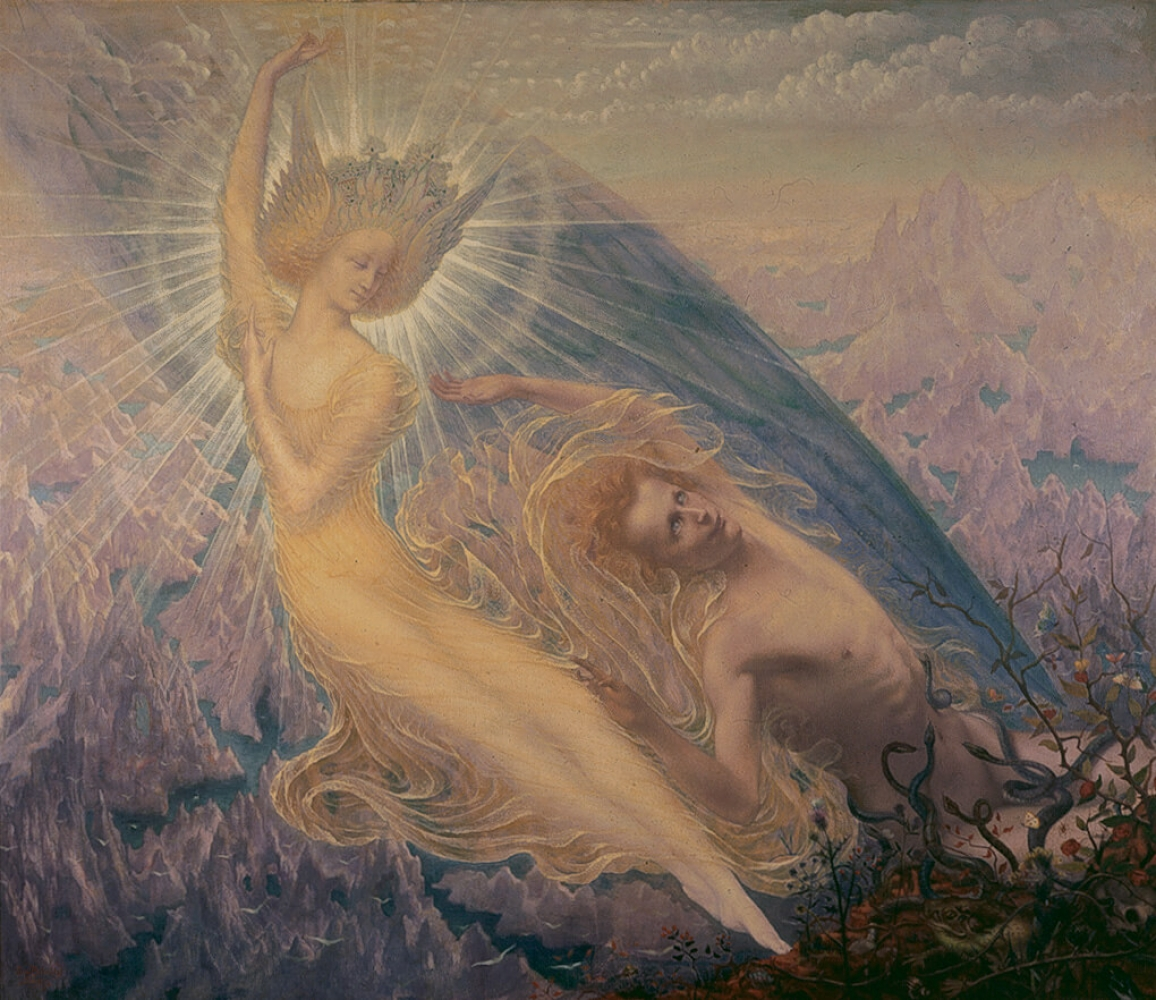 """The Angel of Splendors"", an artwork presented within the exhibition ""Simbolismo mistico. Il Salon de la Rose+Croix a Parigi 1892-1897"""