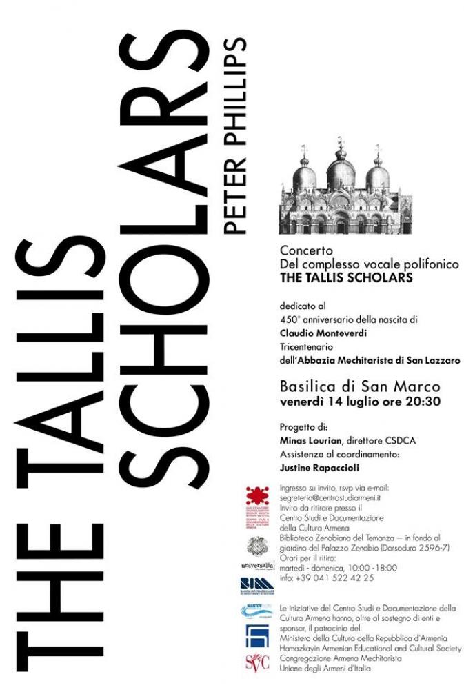 """Affiche du concert """"The Tallis Scholars Peter Phillips"""""""