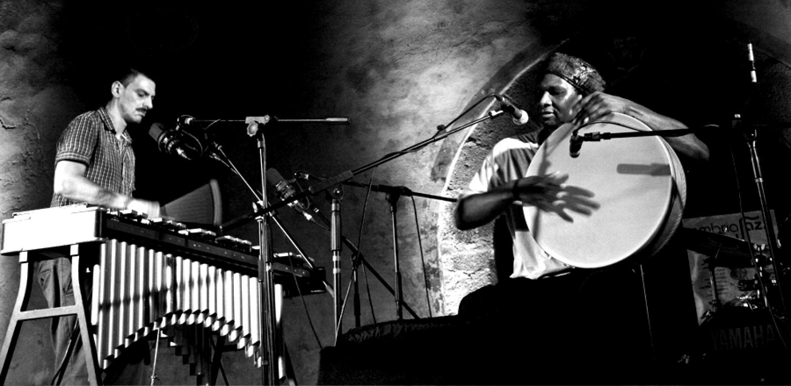 Pasquale Mirra and Hamid Drake en concert